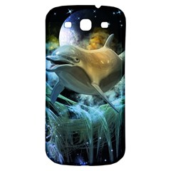 Funny Dolphin In The Universe Samsung Galaxy S3 S Iii Classic Hardshell Back Case