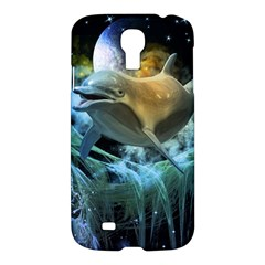 Funny Dolphin In The Universe Samsung Galaxy S4 I9500/i9505 Hardshell Case