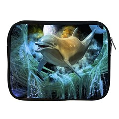 Funny Dolphin In The Universe Apple Ipad 2/3/4 Zipper Cases