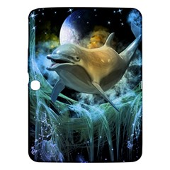 Funny Dolphin In The Universe Samsung Galaxy Tab 3 (10 1 ) P5200 Hardshell Case