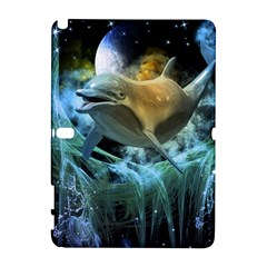 Funny Dolphin In The Universe Samsung Galaxy Note 10 1 (p600) Hardshell Case