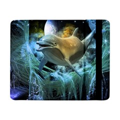 Funny Dolphin In The Universe Samsung Galaxy Tab Pro 8 4  Flip Case