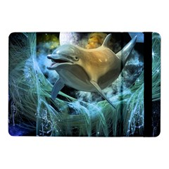 Funny Dolphin In The Universe Samsung Galaxy Tab Pro 10 1  Flip Case
