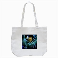Funny Dolphin In The Universe Tote Bag (white)