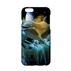 Funny Dolphin In The Universe Apple Iphone 6/6s Hardshell Case