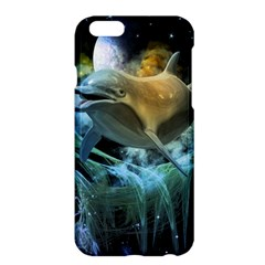 Funny Dolphin In The Universe Apple Iphone 6 Plus/6s Plus Hardshell Case by FantasyWorld7