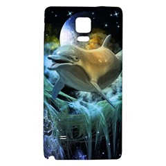 Funny Dolphin In The Universe Galaxy Note 4 Back Case