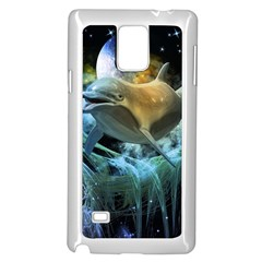 Funny Dolphin In The Universe Samsung Galaxy Note 4 Case (white)
