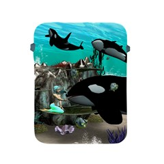 Cute Mermaid Playing With Orca Apple Ipad 2/3/4 Protective Soft Cases by FantasyWorld7