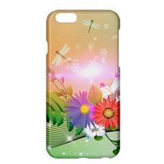 Wonderful Colorful Flowers With Dragonflies Apple Iphone 6 Plus/6s Plus Hardshell Case by FantasyWorld7