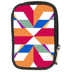 Shapes In Triangles Compact Camera Leather Case
