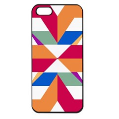 Shapes In Triangles Apple Iphone 5 Seamless Case (black) by LalyLauraFLM