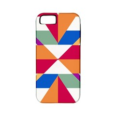 Shapes In Triangles Apple Iphone 5 Classic Hardshell Case (pc+silicone) by LalyLauraFLM