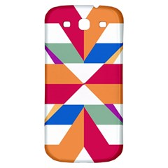 Shapes In Triangles Samsung Galaxy S3 S Iii Classic Hardshell Back Case by LalyLauraFLM