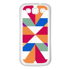 Shapes In Triangles Samsung Galaxy S3 Back Case (white) by LalyLauraFLM