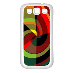 Spiral Samsung Galaxy S3 Back Case (white) by LalyLauraFLM