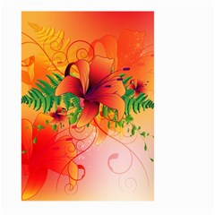 Awesome Red Flowers With Leaves Large Garden Flag (two Sides) by FantasyWorld7