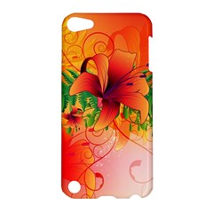 Awesome Red Flowers With Leaves Apple Ipod Touch 5 Hardshell Case by FantasyWorld7