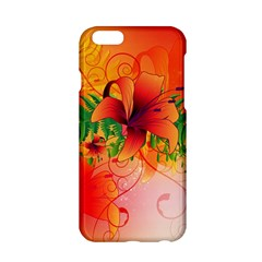 Awesome Red Flowers With Leaves Apple Iphone 6/6s Hardshell Case by FantasyWorld7