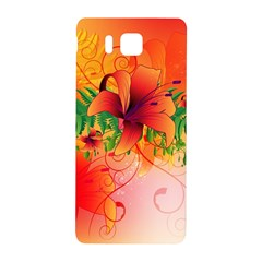 Awesome Red Flowers With Leaves Samsung Galaxy Alpha Hardshell Back Case by FantasyWorld7