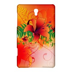 Awesome Red Flowers With Leaves Samsung Galaxy Tab S (8 4 ) Hardshell Case