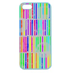 Colorful Vintage Stripes Apple Seamless Iphone 5 Case (color) by LalyLauraFLM