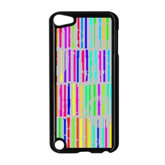 Colorful Vintage Stripes Apple Ipod Touch 5 Case (black) by LalyLauraFLM