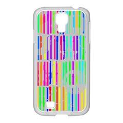 Colorful Vintage Stripes Samsung Galaxy S4 I9500/ I9505 Case (white)