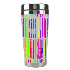 Colorful Vintage Stripes Stainless Steel Travel Tumbler by LalyLauraFLM