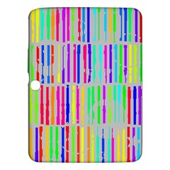 Colorful Vintage Stripes Samsung Galaxy Tab 3 (10 1 ) P5200 Hardshell Case  by LalyLauraFLM