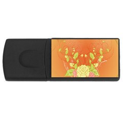 Beautiful Flowers In Soft Colors Usb Flash Drive Rectangular (4 Gb)