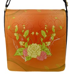 Beautiful Flowers In Soft Colors Flap Messenger Bag (s) by FantasyWorld7