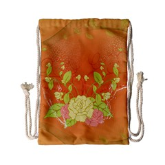 Beautiful Flowers In Soft Colors Drawstring Bag (small)