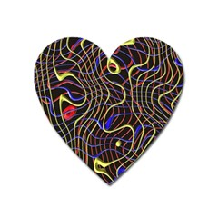 Ribbon Chaos 2 Black  Heart Magnet by ImpressiveMoments