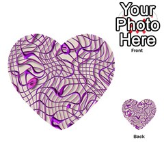 Ribbon Chaos 2 Lilac Multi Purpose Cards (heart)