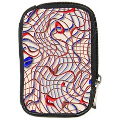 Ribbon Chaos 2 Red Blue Compact Camera Cases by ImpressiveMoments