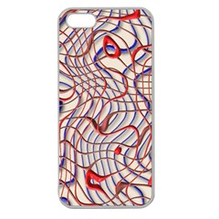 Ribbon Chaos 2 Red Blue Apple Seamless Iphone 5 Case (clear) by ImpressiveMoments