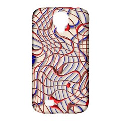 Ribbon Chaos 2 Red Blue Samsung Galaxy S4 Classic Hardshell Case (pc+silicone) by ImpressiveMoments