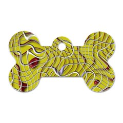 Ribbon Chaos 2 Yellow Dog Tag Bone (one Side) by ImpressiveMoments