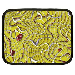 Ribbon Chaos 2 Yellow Netbook Case (xl)  by ImpressiveMoments
