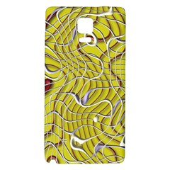 Ribbon Chaos 2 Yellow Galaxy Note 4 Back Case by ImpressiveMoments
