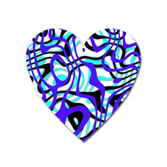 Ribbon Chaos Ocean Heart Magnet by ImpressiveMoments