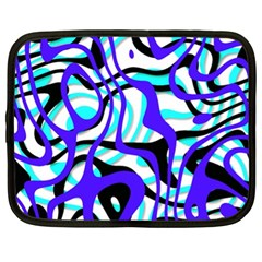 Ribbon Chaos Ocean Netbook Case (xl)  by ImpressiveMoments