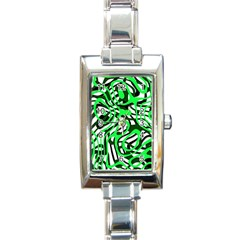 Ribbon Chaos Green Rectangle Italian Charm Watches by ImpressiveMoments