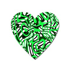 Ribbon Chaos Green Heart Magnet by ImpressiveMoments