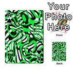 Ribbon Chaos Green Playing Cards 54 Designs  Front - SpadeA