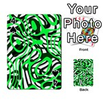 Ribbon Chaos Green Playing Cards 54 Designs  Front - Spade4