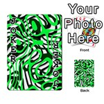 Ribbon Chaos Green Playing Cards 54 Designs  Front - Joker1