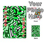 Ribbon Chaos Green Playing Cards 54 Designs  Front - Joker2
