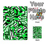 Ribbon Chaos Green Playing Cards 54 Designs  Back